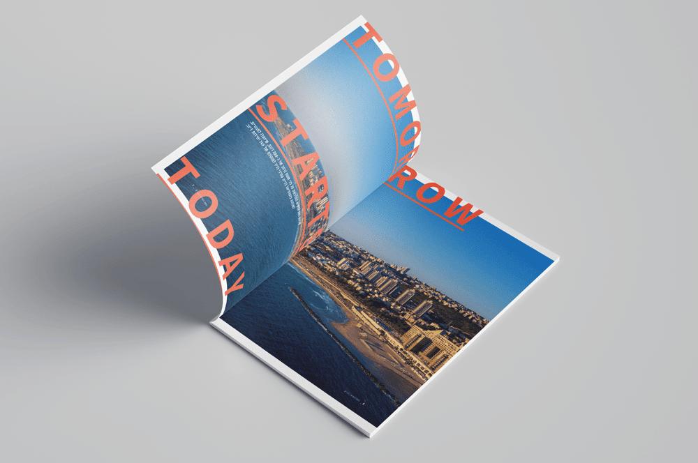 עיצוב חוברת גב ים