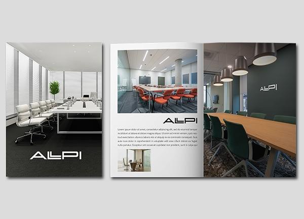 מיתוג עסקי עיצוב חוברות ALPI