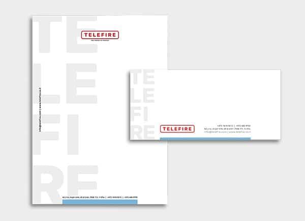 Telefire מיתוג עסקי עיצוב שלטי ניירת