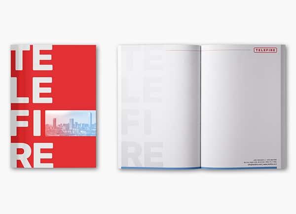 Telefire מיתוג עסקי עיצוב חוברות