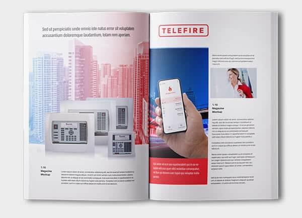 Telefire מיתוג עסקי עיצוב קטלוג