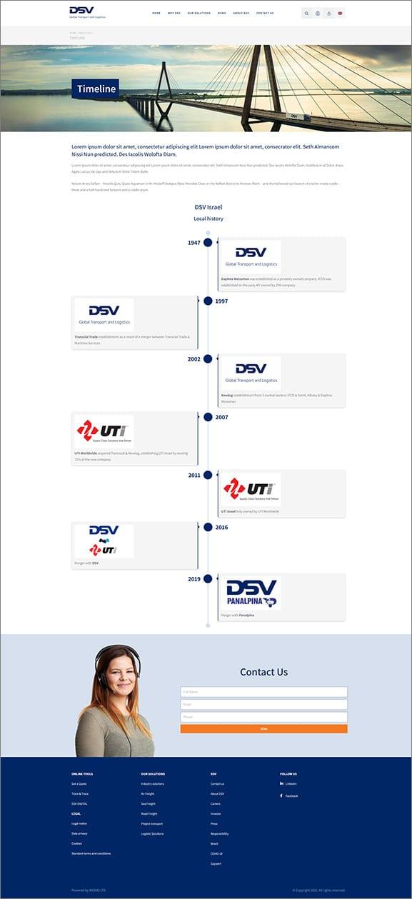 עיצוב אתר אינטרנט DSV